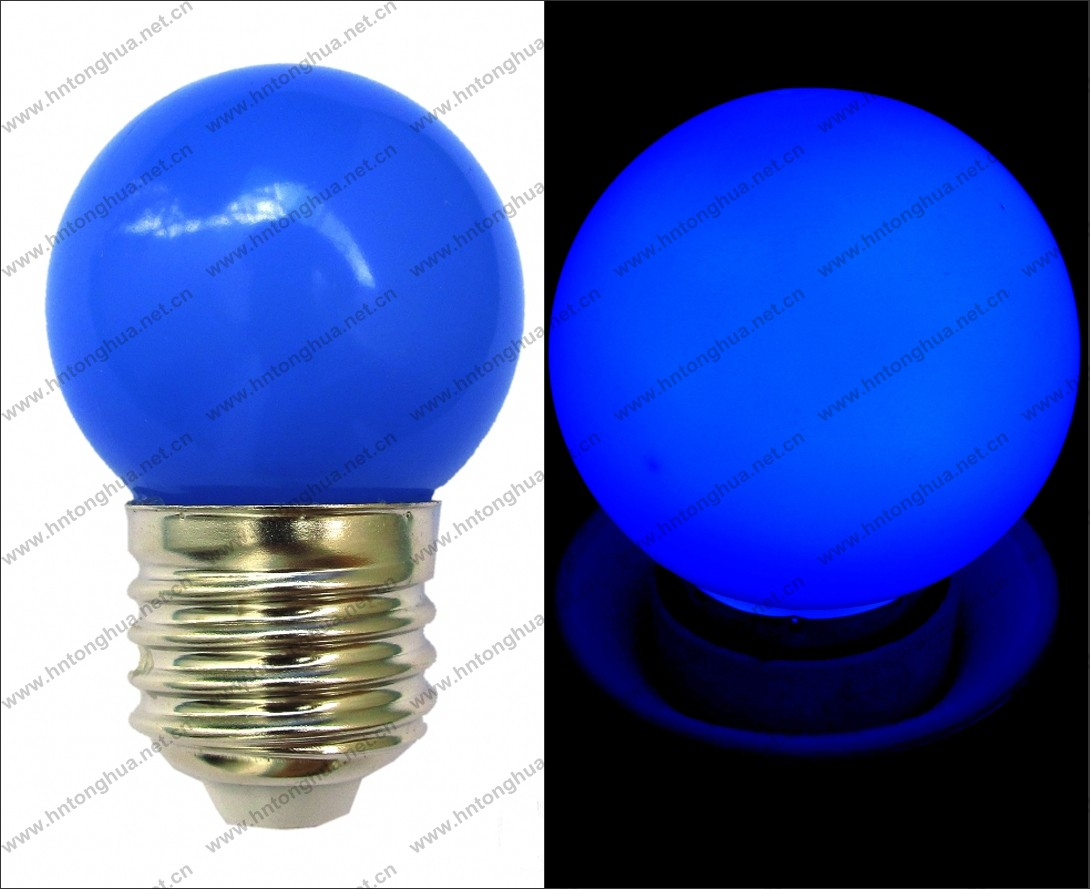 Led G40 G45 Color Light Bulb 1w E27 / B22,Pc Cover,Ip65,Ce & Rohs ...