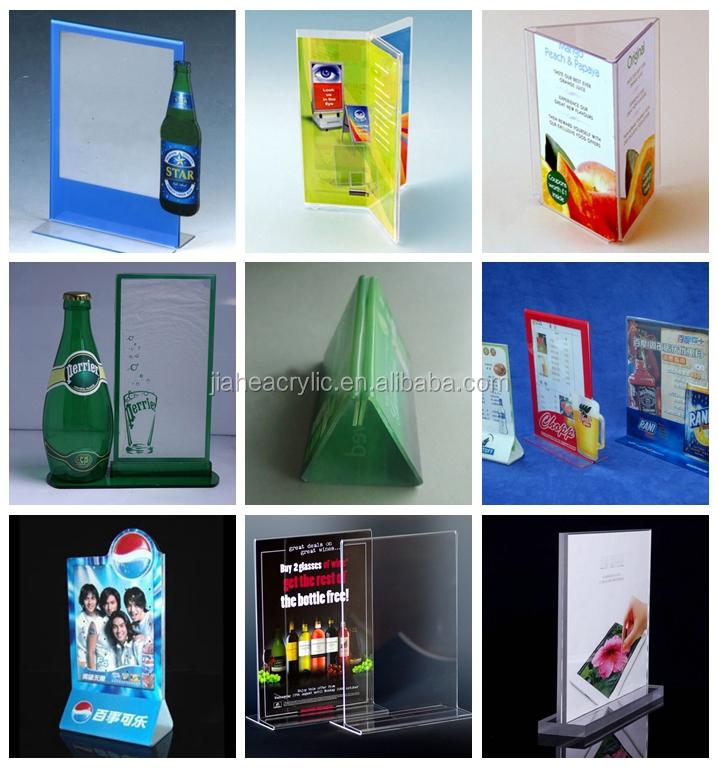 Plexiglass A5 Table Flip Menu Holder Transparent Acrylic A5 Pmma ...