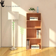Wholesale antique style simple design tall solid wood teak furniture bookcases