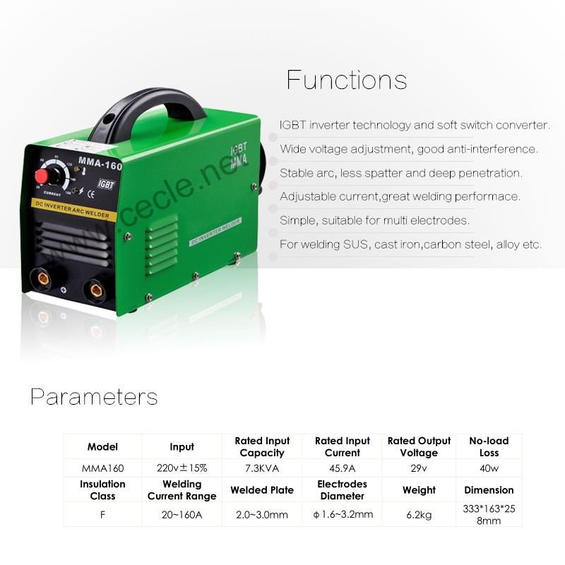 Economic portable mig mma welding machine