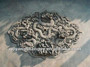 The snake relief stone carving sculpture