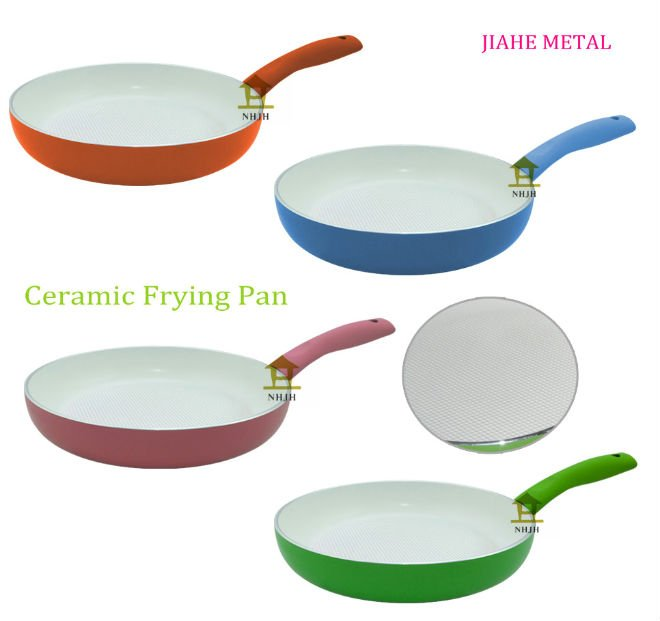 white ceramic aluminum cookware