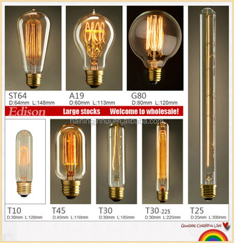 ST40 Edison Bulbs 40w, Retro Tungsten Light Bulb St40 Edison Light Bulb