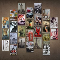 Wholesale Custom Iron Poster Advertisement Retro Vintage Style Metal Tin Sign For Bar Wall Decoration