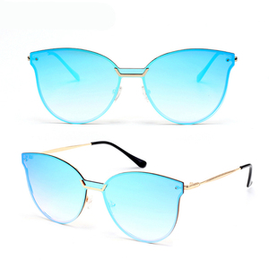 High Quality Comfortable Metal Temple Low Moq Sunglasses Free Sample