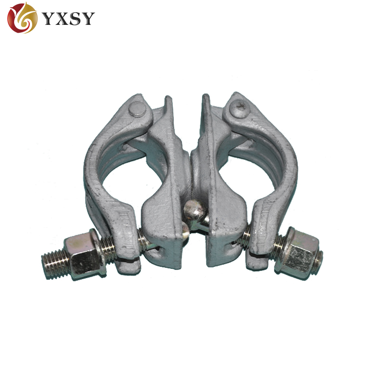Drop forged scaffold clamp double coupler swivel coupler