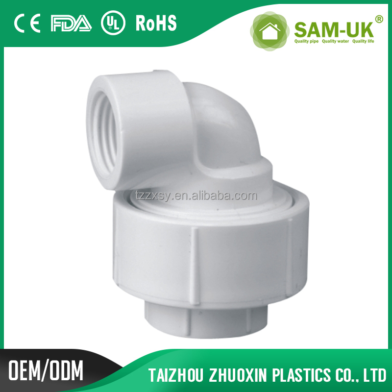British Standard PVC Pipe Fittings 90 Degree Swivel Elbow