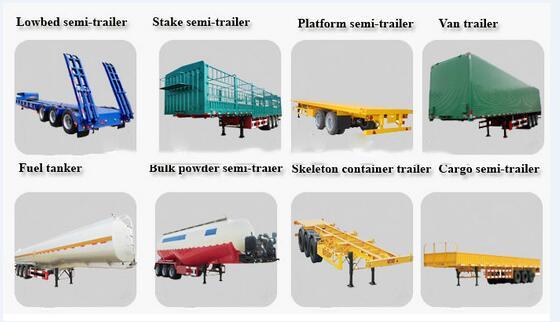 Chengda de fabricación plana contenedor 3 eje 20ft 40ft Semi remolque para la venta