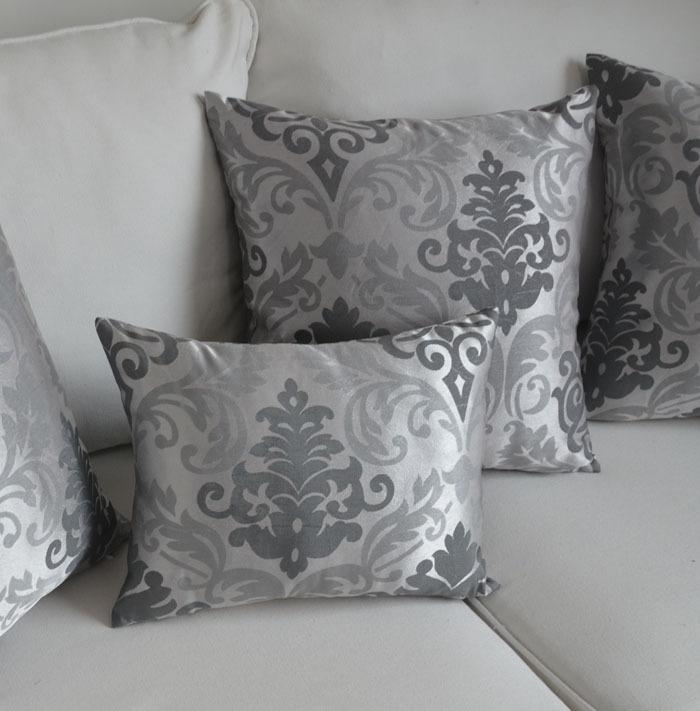 housse de coussin de style baroque argent taie d 39 oreiller pour canap d corer h tel canap. Black Bedroom Furniture Sets. Home Design Ideas