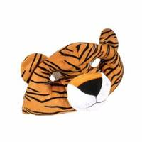 Hot sale funny animal head plush tiger eye mask
