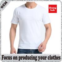Soft feeling 95% cotton 5% elastane men's t shirt with custom design