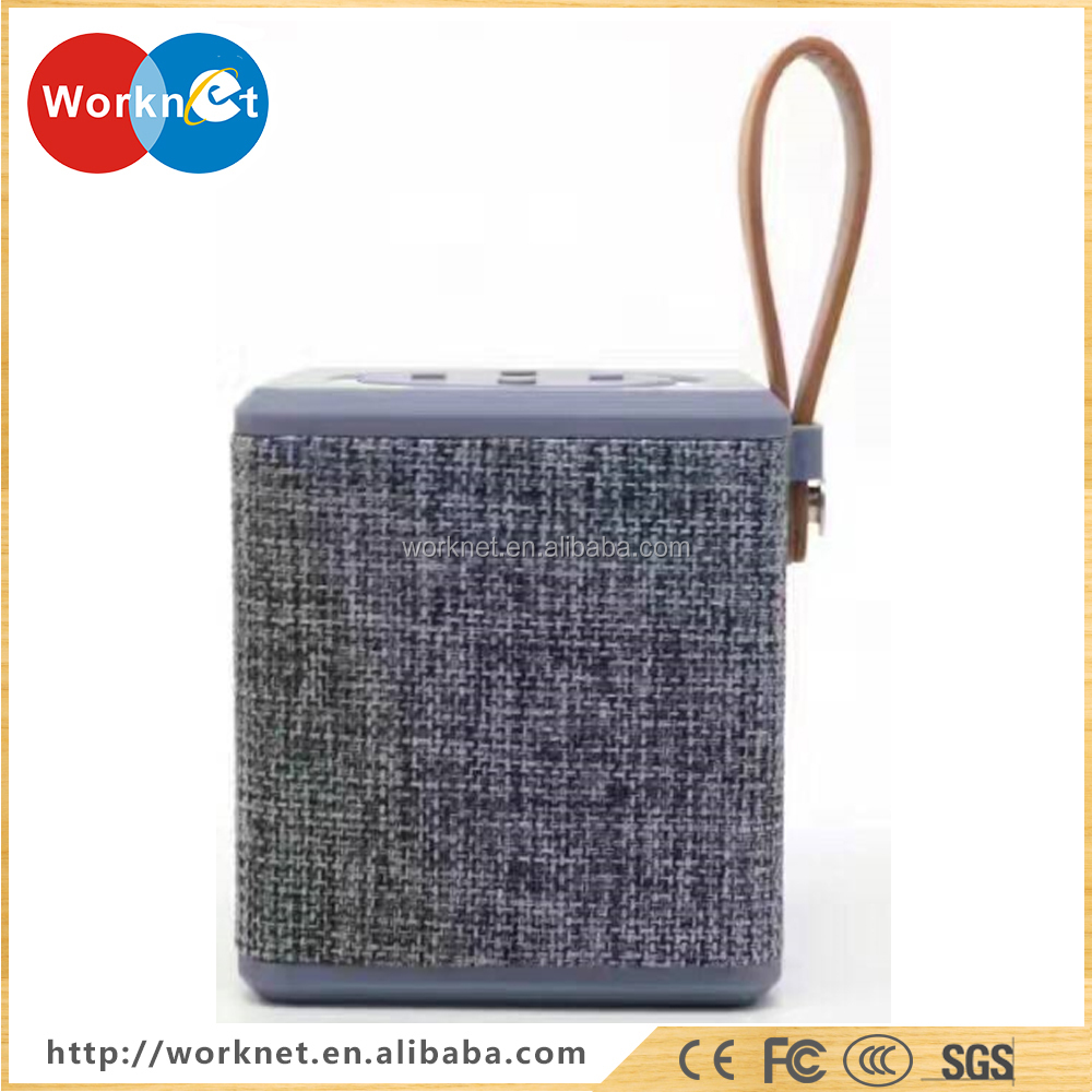 China factory OEM high quality portable speaker bluetooth wireless outdoor fabric speaker new products 2017