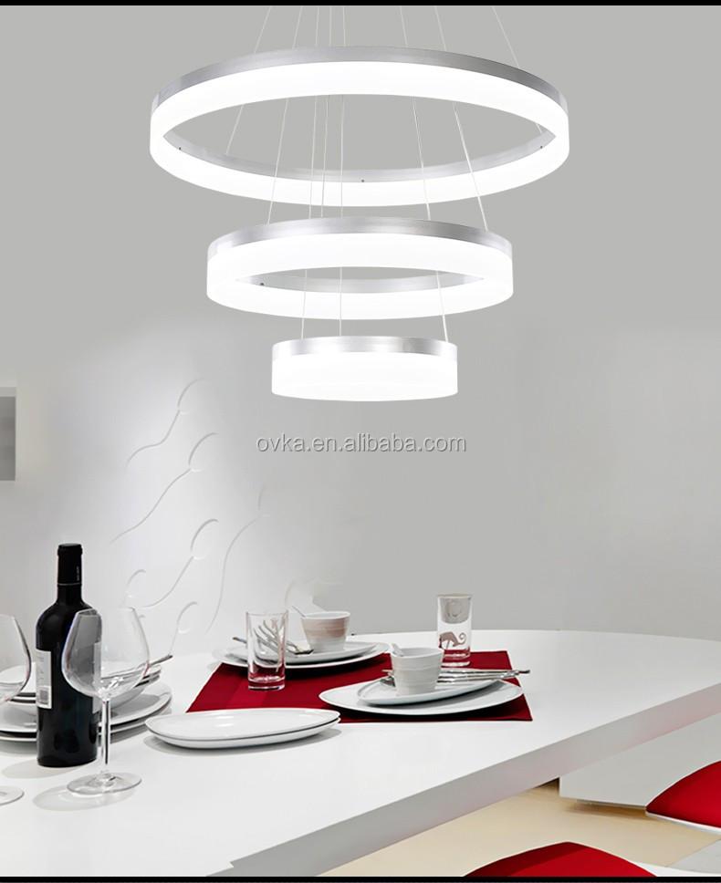 LED moderne restaurant hanglampen woonkamer lamp acryl circulaire ...