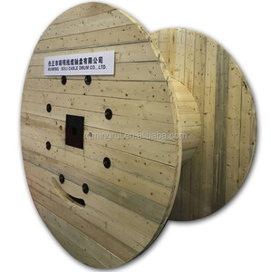 Empty Industrial Wooden Cable Spools For Sale From Tianjin Port