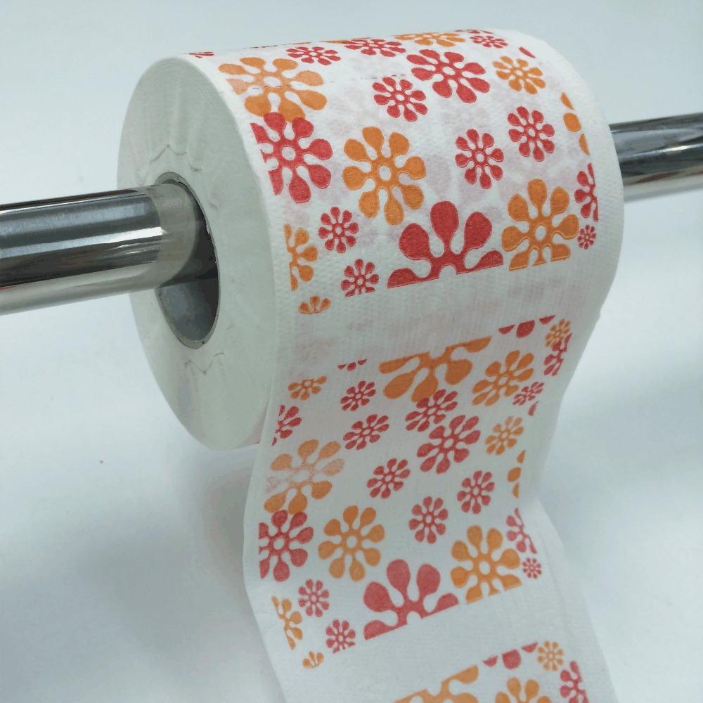 Lovely Flower Pattern Printed Toilet Paper Buy Colored Toilet