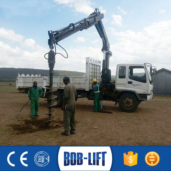 Diagging Different Holes Diameters Crane Earth Auger with 8m