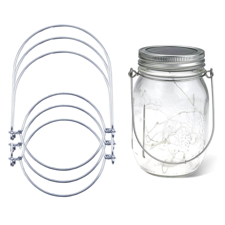 BronaGrand 8pcs Wire Handles Hangers(Handle-Ease) for Mason, Stainless Steel Mason Jar Hanger, Canning Jars Hanger, Hanging Jars, Ball