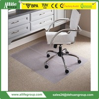 Allife Foldable New Design Bamboo Chair Mats For Carpet Made in China