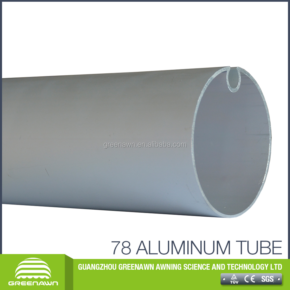 78mm galvanized roller tube aluminum retractable awning tube for sale