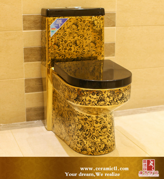 Black Gold Best Flushing Toilet Bowl