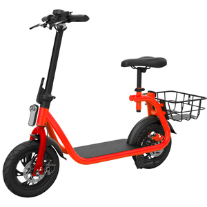 OEM/ODM New Design 12inch Electric Scooter 35W 42V Foldable Electric Bicycle Bike With Seats and Basket