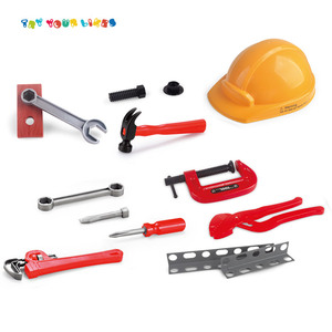 Funny pretend play boy toys diy power construction bricolage tool kit toy set