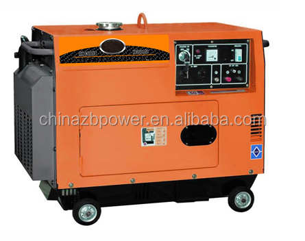 Factory direct sale 5kw 8kw 10kw mini diesel power silent mini generators with Digital Control Panel