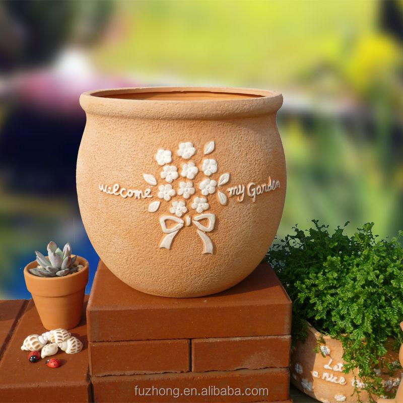 Garden Round Terracotta Plant Pot Wholesale Clay Flower