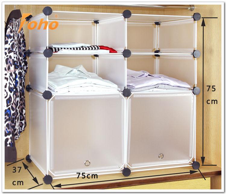 Casa di plastica di stoccaggio vestiti box scarpiera per armadio fh al01013 2 scatole e scatole for Scatole ikea per armadi
