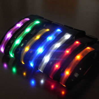 Led Lighted Up Flashing 100% Waterproof USB Rechargeable Pet Safety Dog Collar