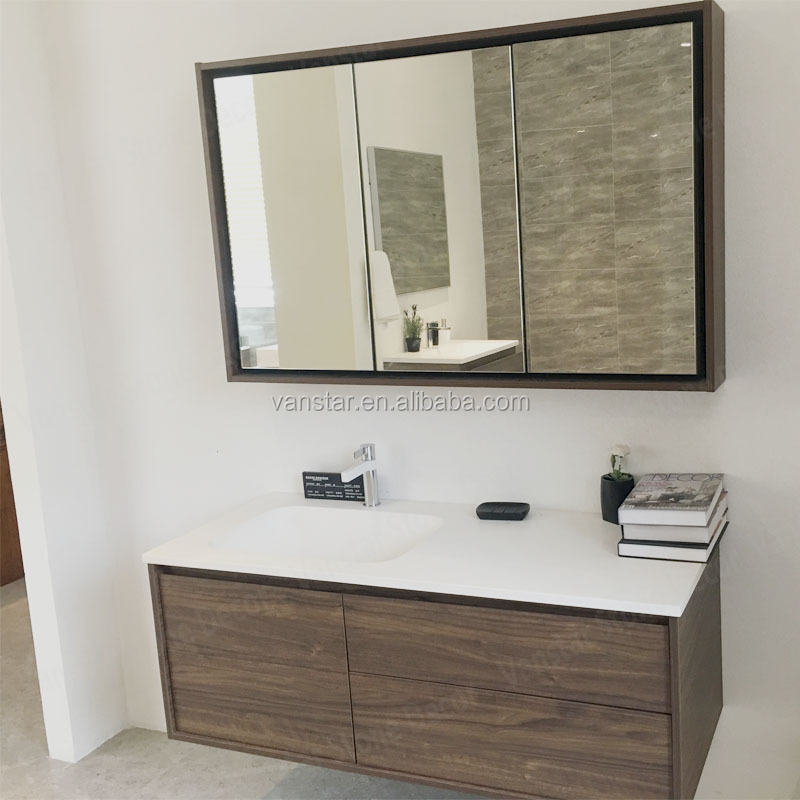 Illuminated Stainless Steel Bathroom Mirrored Medicine Cabinet With Light