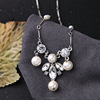 Small fashion pearl crystal chunky necklace,lady fashion cheap silver jewelry(PR1186)