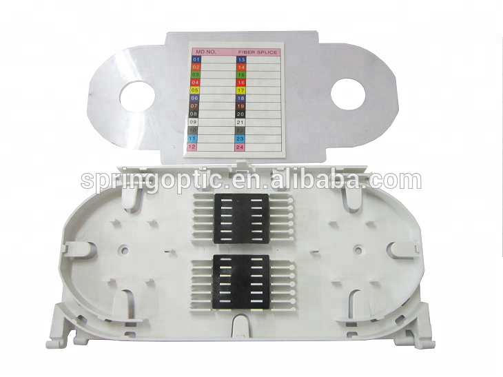 12 24 Port Fiber Optical Splice Tray For Patch Panel For FTTH Box