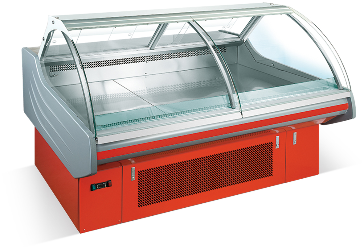 2.5m Front Open Supermarket Cooked Food Display Fridge (Warming Type Available)