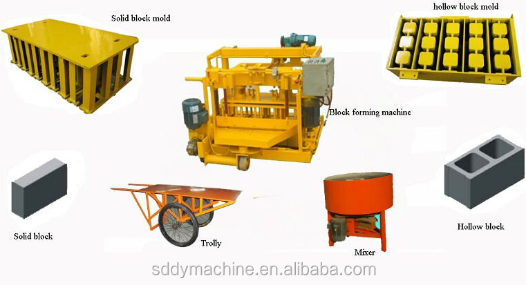 QT40-3A mobile block machine small cement block making machine latest products making machine