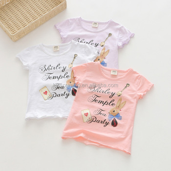 wholesale words printing cotton kids girl cartoon t shirts buy