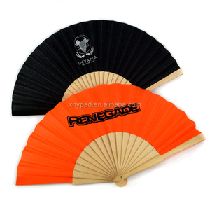 Promotional custom printed wooden folding hand fans bulk