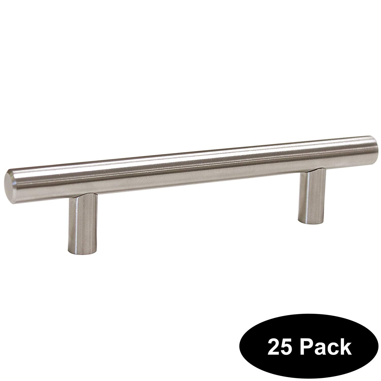 25 pack 96mm(3.75inch) Hole Centers Stainless Steel Kitchen Cabinet Door Handles and Pulls Cabinet Knobs Length 150mm(6inch) Brushed Nickel