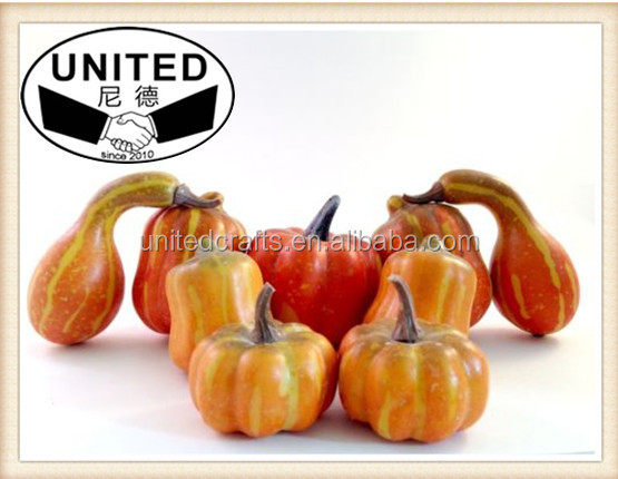 18 Artificial Mini Pumpkins Fake Plastic Fruit Vegetable Holiday Decoration New
