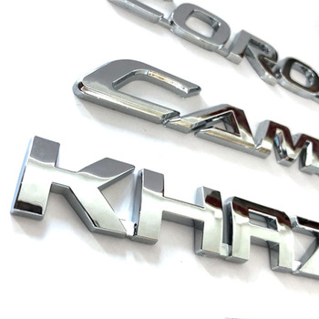 Round car emblem 3D ABS chrome Car logo Sticker for car brands