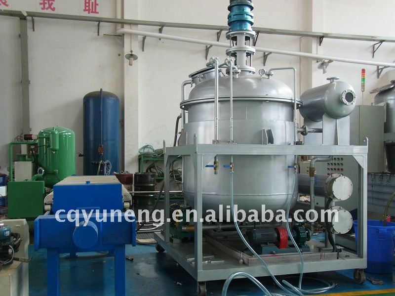 Black Car Oil recycling plant/ oil purification/ used oil reprocessing