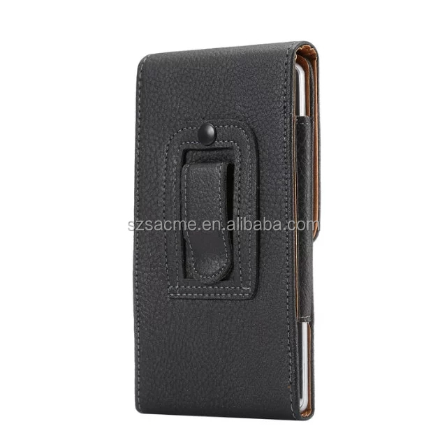 Unverisal Litchi Leather Belt Clip Holster Mobile Phone Pouch Bag For Iphone 7 7 Plus