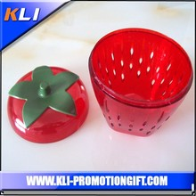 plastic fruit shaped holder red strawberry saver