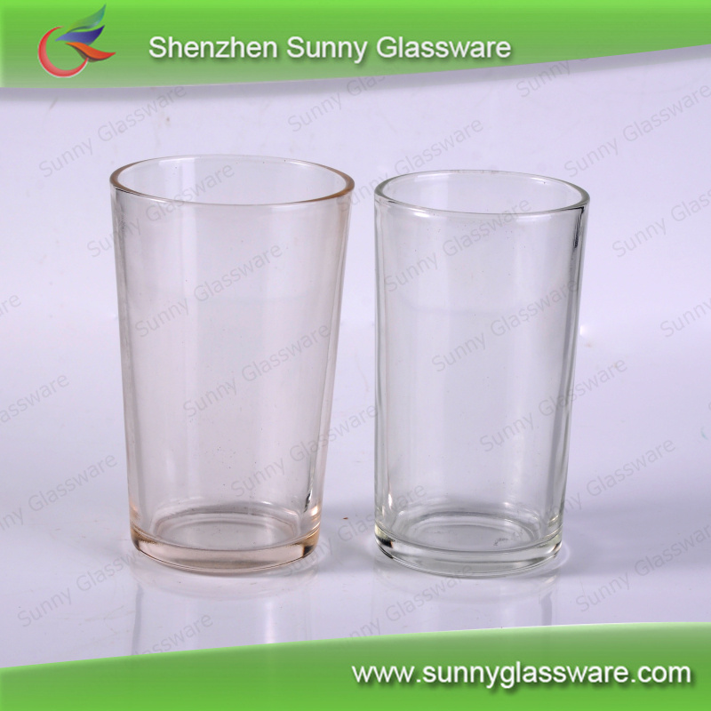 Promotional glass water cups with custom logo