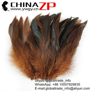 Gold Supplier CHINAZP Bulk Sale Top Quality Colored Brown Chicken Half Bronze Rooster Schlappen Feathers