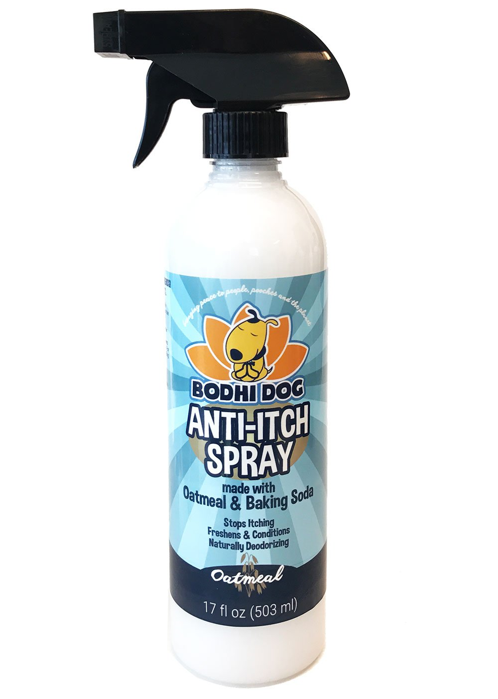 NEW Anti Itch Oatmeal Spray for Dogs and Cats | 100% All Natural Hypoallergenic Soothing Relief for Dry, Itchy, Bitten or Allergic Damaged Skin | Vet and Pet Approved Treatment