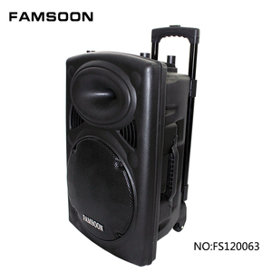 "12 "" inch Wireless Sound Systems Portable Rechargeable Trolley Speaker"