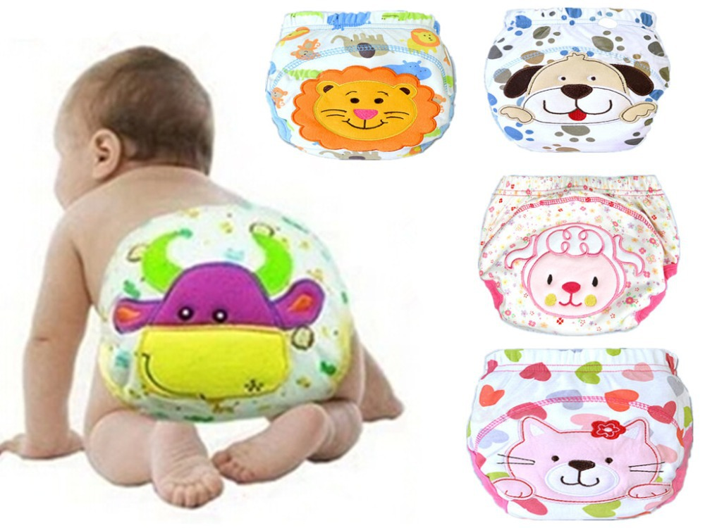 1PC Cotton Baby Reusable Diapers Infant Washable Cloth Diaper Covers Baby Nappies Baby Swim Nappy Training Pants For Children