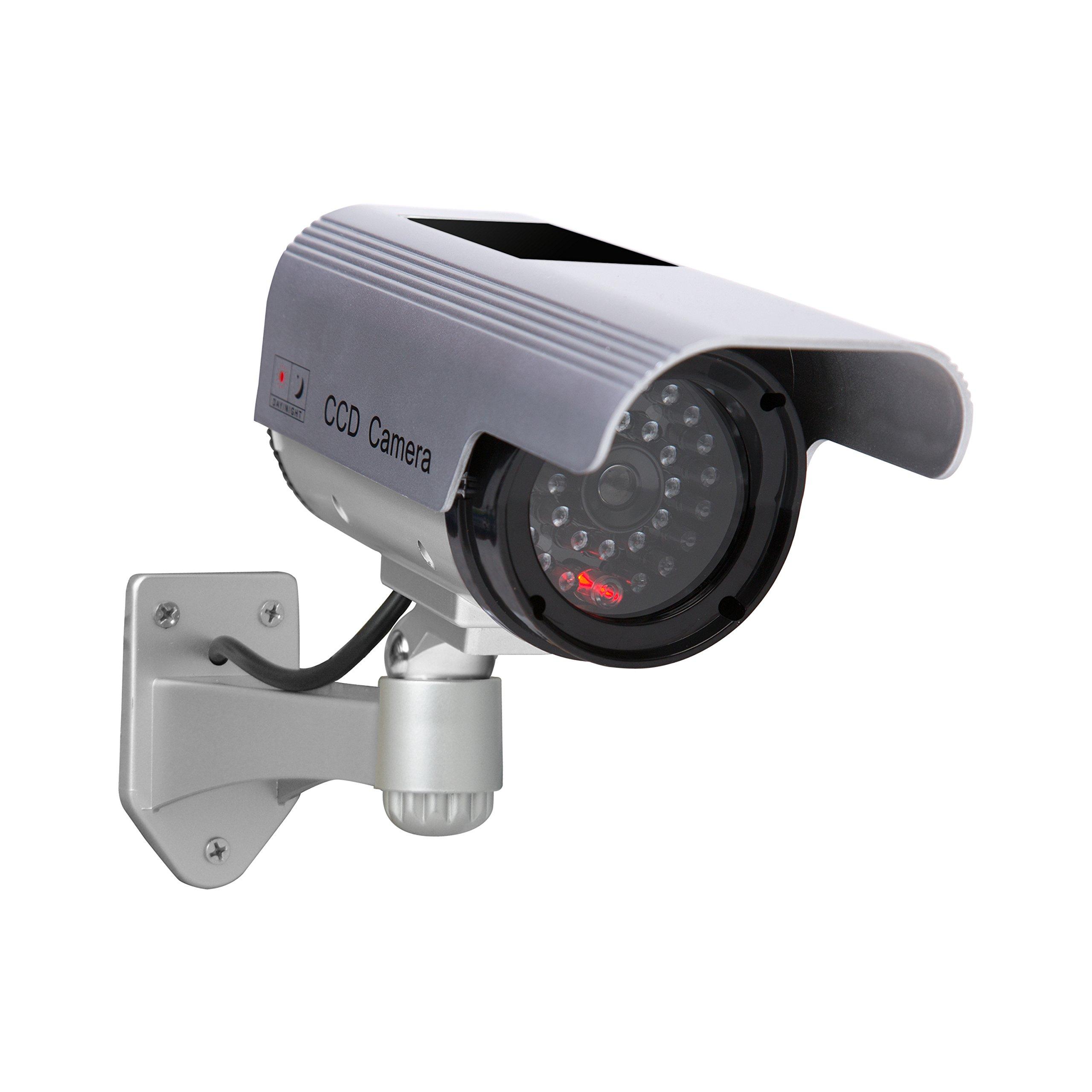 Sunforce 82340 Solar Fake Security Camera with Blinking Light