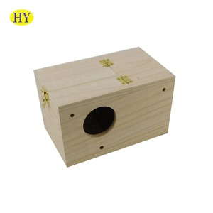Wholesale Promotional Gift Unfinished Wooden Bird House